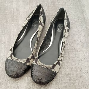 Coach Shoe Womens Size 8.5 Shine Flats
